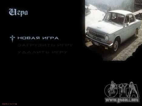 Menú de coches Soviéticos para GTA San Andreas sucesivamente de pantalla