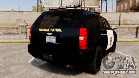 Chevrolet Tahoe 2007 LCHP [ELS] para GTA 4 Vista posterior izquierda