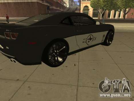 Chevrolet Camaro ZL1 para la visión correcta GTA San Andreas