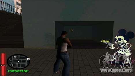 C-Hud Mickey para GTA San Andreas segunda pantalla