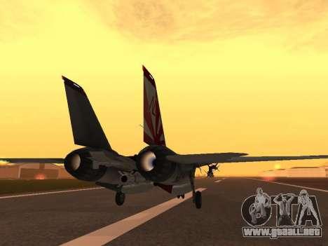 F-14 Tomcat HQ para la visión correcta GTA San Andreas