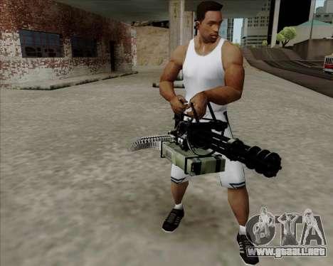 Renegades Minigun Black para GTA San Andreas segunda pantalla