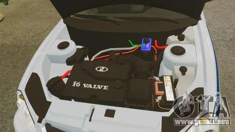 VAZ-2170 de Policía para GTA 4 vista interior