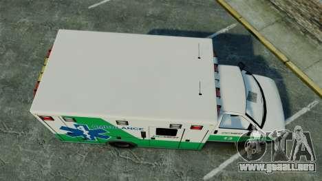 Brute GQ Med Ambulance [ELS] para GTA 4 visión correcta