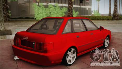 Audi 80 B4 RS2 para GTA San Andreas vista posterior izquierda