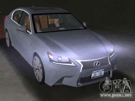 Lexus GS350 F Sport 2013 para GTA Vice City vista lateral izquierdo