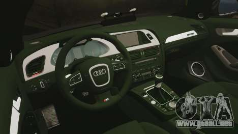 Audi S4 2013 Unmarked Police [ELS] para GTA 4 vista lateral