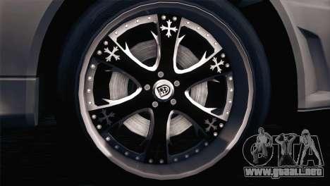 Nissan Skyline GT-R R34 V-Spec Lexani Rims para GTA San Andreas left