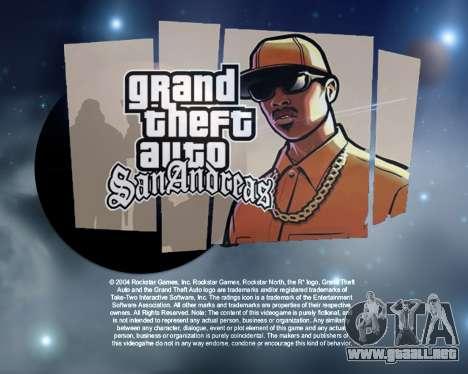 Nuevas pantallas de inicio de Espacio para GTA San Andreas segunda pantalla