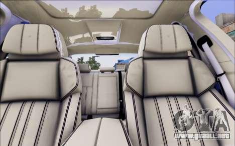 BMW 550 F10 xDrive para GTA San Andreas vista hacia atrás