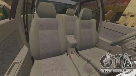 VAZ-2170 de Policía para GTA 4 vista superior