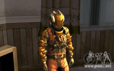 Isaac Clark in E.V.A Suit para GTA San Andreas