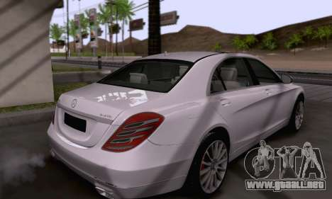 Mercedes-Benz W222 para vista lateral GTA San Andreas
