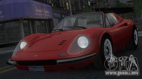 Ferrari Dino 246 GTS para GTA 4 vista superior