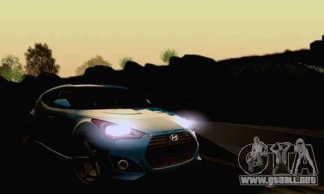 Hyundai Veloster para visión interna GTA San Andreas
