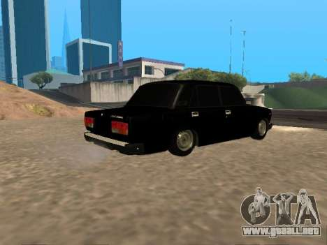 VAZ 2107 v1.2 Final para la visión correcta GTA San Andreas