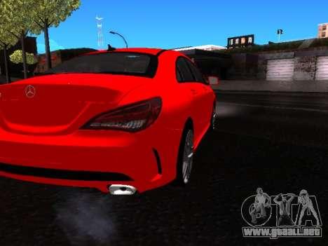 Mercedes-Benz CLA 250 para GTA San Andreas vista hacia atrás