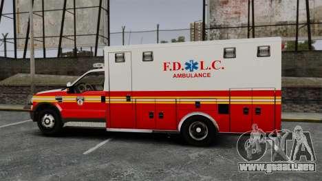 Ford F-250 Super Duty FDLC Ambulance [ELS] para GTA 4 left