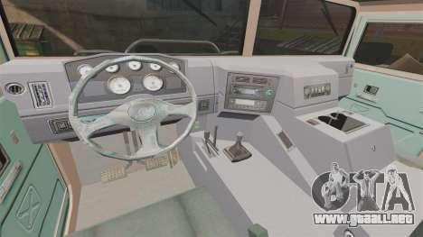 Dongfeng EQ2050 para GTA 4 vista interior