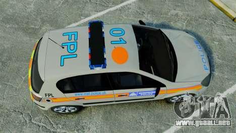 Vauxhall Astra Metropolitan Police [ELS] para GTA 4 visión correcta