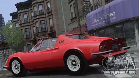 Ferrari Dino 246 GTS para GTA 4 vista lateral