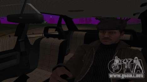Audi 100, la Policía ОБЭП para GTA San Andreas vista hacia atrás