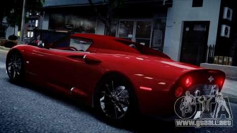 Spyker C8 Aileron Spyder v2.0 para GTA 4 visión correcta