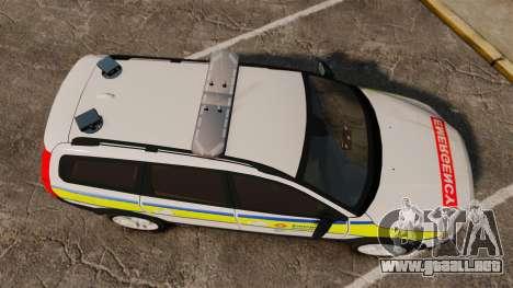 Volvo XC70 Emergency Response Unit [ELS] para GTA 4 visión correcta