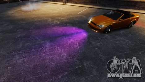 Luces de color púrpura para GTA 4