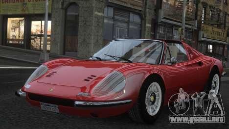 Ferrari Dino 246 GTS para GTA 4 vista desde abajo