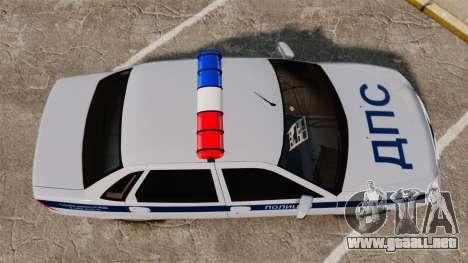 VAZ-2170 de Policía para GTA 4 visión correcta