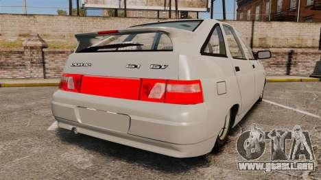VAZ-2112 para GTA 4 Vista posterior izquierda