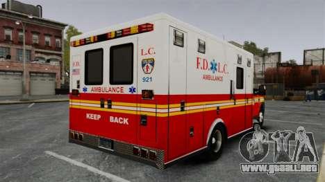 Ford F-250 Super Duty FDLC Ambulance [ELS] para GTA 4 Vista posterior izquierda
