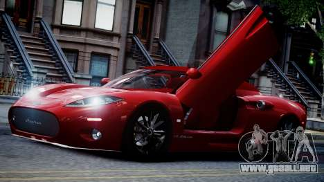 Spyker C8 Aileron Spyder v2.0 para GTA 4 vista superior