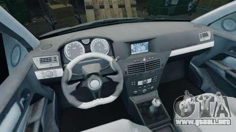 Vauxhall Astra Metropolitan Police [ELS] para GTA 4 vista hacia atrás
