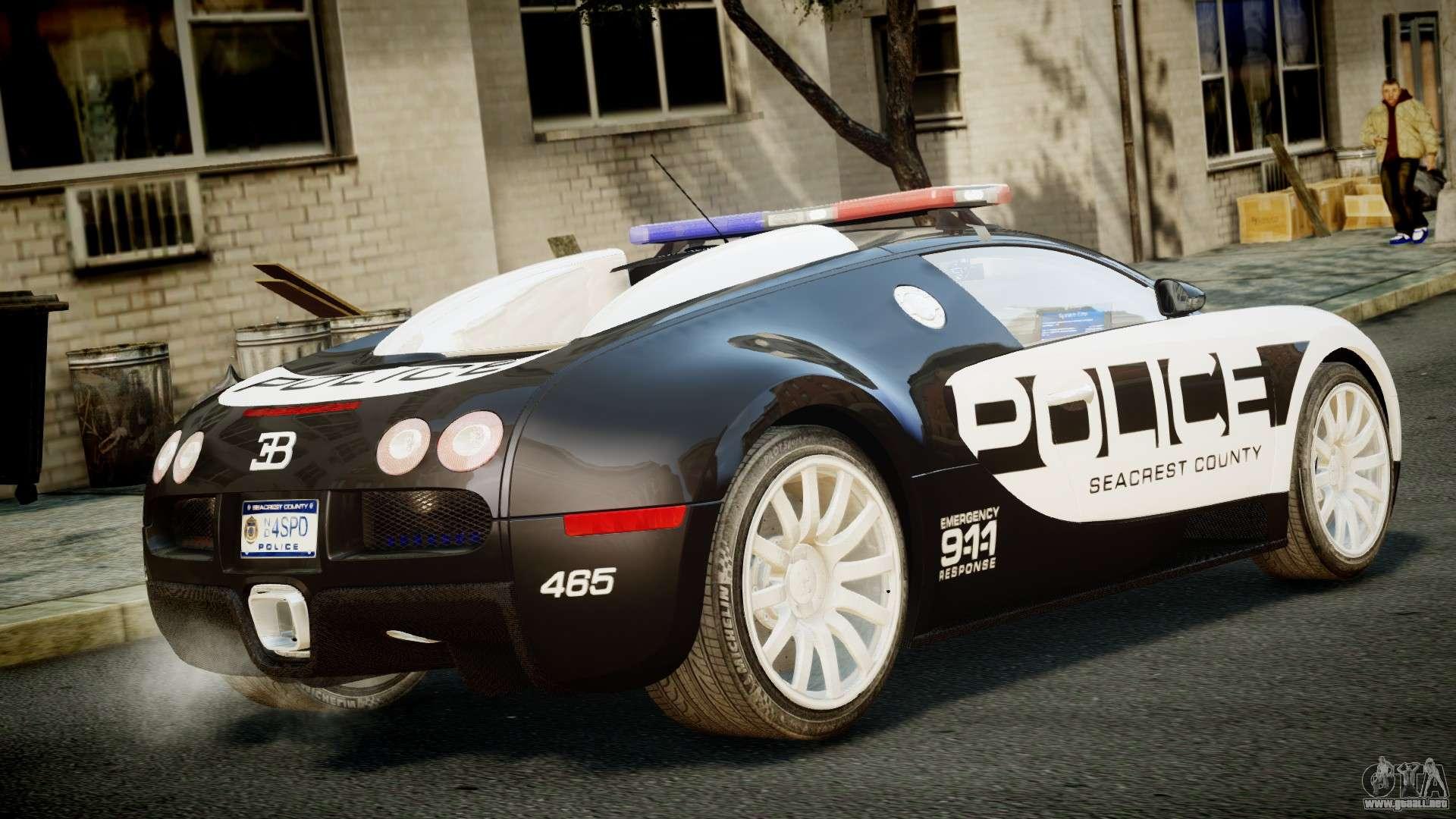 bugatti veyron 16 4 police nfs hot pursuit para gta 4. Black Bedroom Furniture Sets. Home Design Ideas