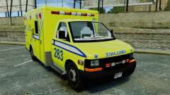 Brute New Liberty Ambulance [ELS] para GTA 4