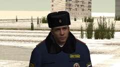Pak agentes de la policía en el invierno uniform