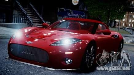 Spyker C8 Aileron Spyder v2.0 para GTA 4
