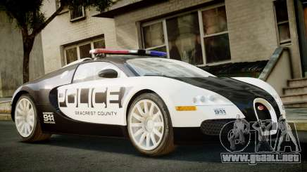Bugatti Veyron 16.4 Police NFS Hot Pursuit para GTA 4