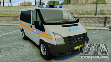Ford Transit Metropolitan Police [ELS] para GTA 4