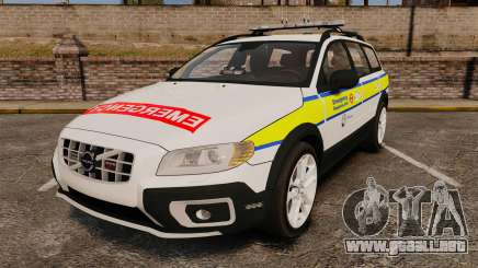 Volvo XC70 Emergency Response Unit [ELS] para GTA 4