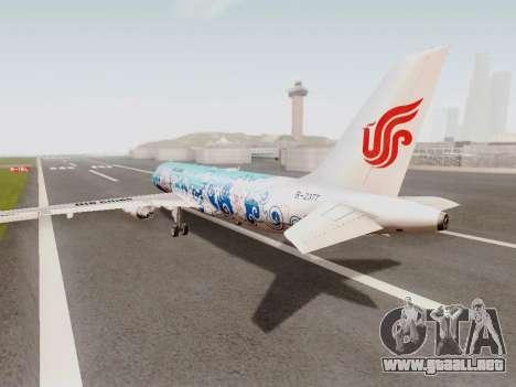 Airbus A320 Air China para GTA San Andreas vista posterior izquierda