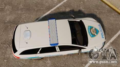 Ford Mondeo Croatian Police [ELS] para GTA 4 visión correcta