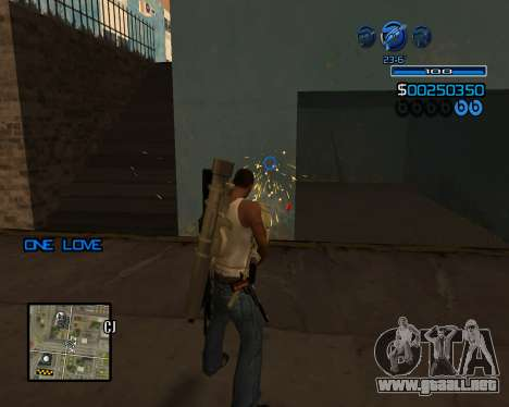 C-HUD Minimal para GTA San Andreas sucesivamente de pantalla