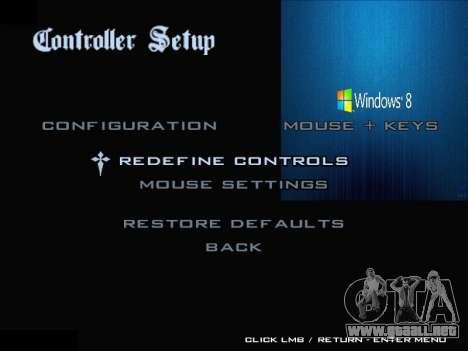 El Menú De Windows para GTA San Andreas novena de pantalla