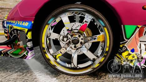 Mazda RX-7 D1 Sticker Bomb para GTA 4 vista hacia atrás