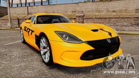 Dodge Viper SRT GTS 2013 para GTA 4