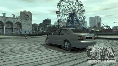 Daewoo Leganza para GTA 4 Vista posterior izquierda