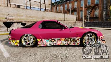 Mazda RX-7 D1 Sticker Bomb para GTA 4 left